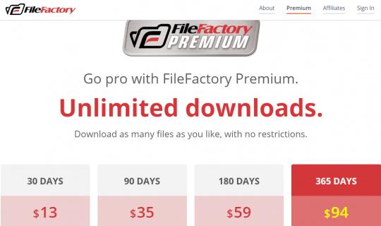 FileFactory / Premium